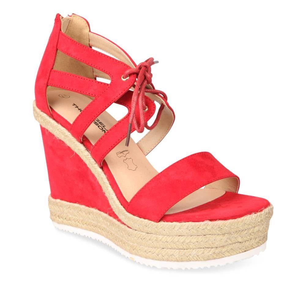 Sandales à talon ROUGE ANGELA THOMPSON   chaussures   Shoes
