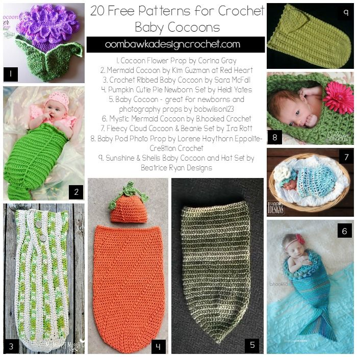 20 Free Patterns for Crochet Baby Cocoons | Cosas para bebe, Para ...