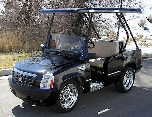 cardetails seater cart cadillac escalade golf electric model