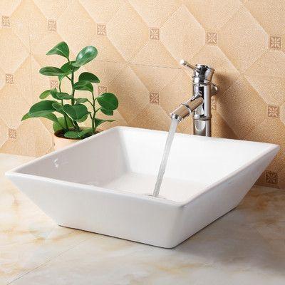 wayfair bathroom sinks. Elite Ceramic Square Bathroom Sink  Reviews Wayfair Downstairs