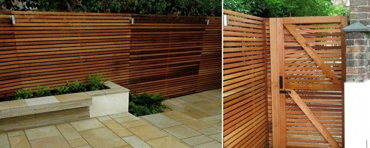 Vallas de madera y vallas metálicas para el jardín Proyecto casa