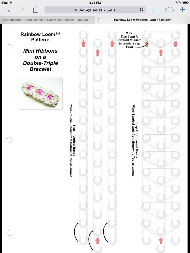 Page 1of 2 Pink Ribbon loom bracelet tutorial.
