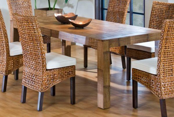 Toll Korbstühle Für Esszimmer Esszimmer Aus Holz