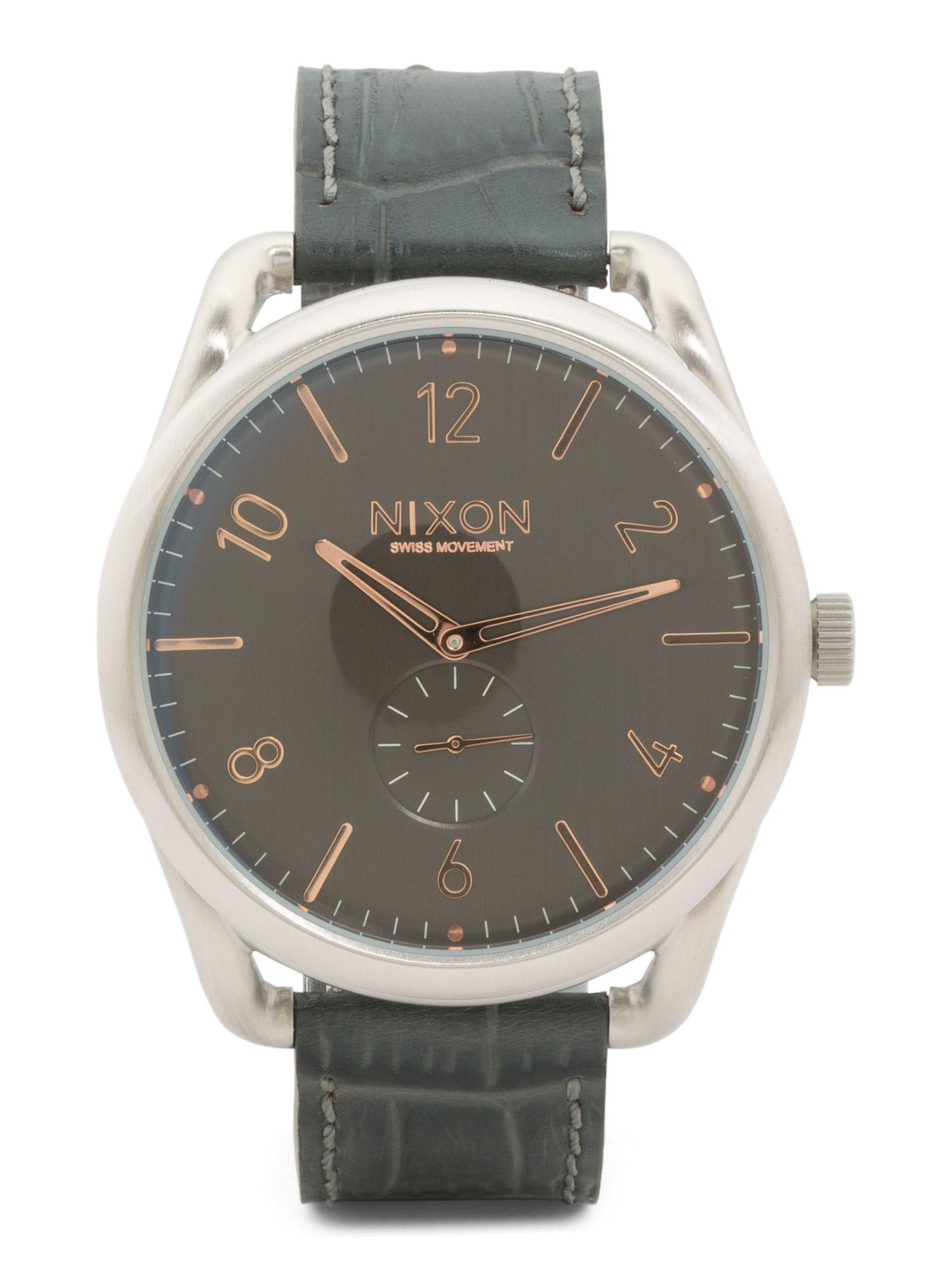 d4d70f96773 Men s C45 Leather Strap Watch