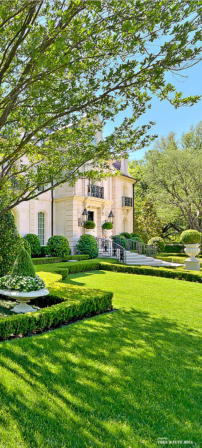 French Chateau Style Residential Estate and Formal Garden ...