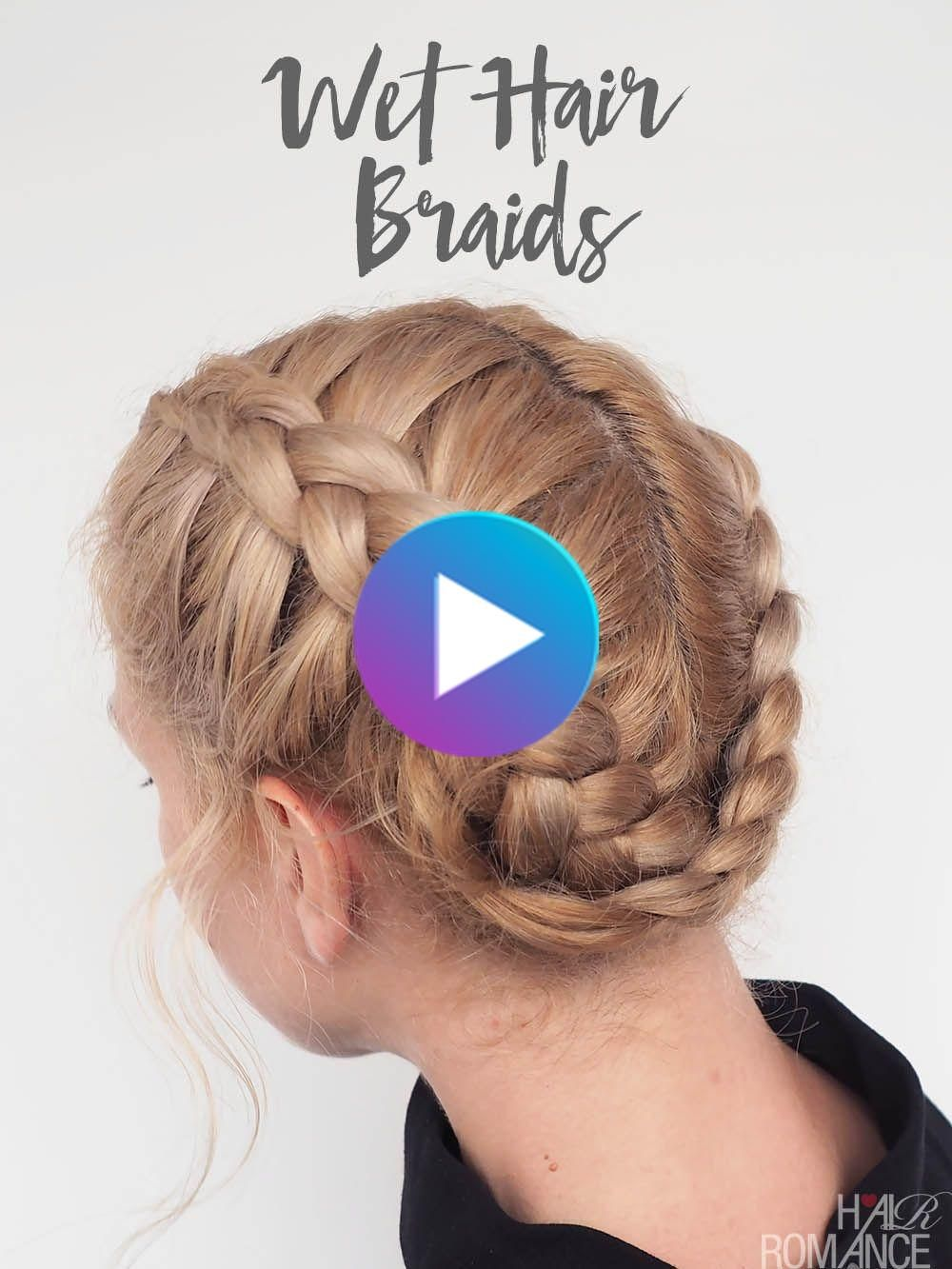 The Best Braids For Wet Hair Dutch Braid Video Tutorial In 2020 Quick Hairstyles For School Cool Hairstyles Easy Hairstyles For School