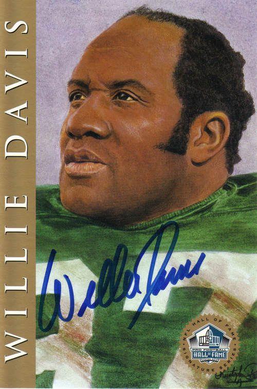 WILLIE DAVIS SIGNED HALL OF FAME CARD (RON MIX) PACKERS HOF81 in Sports Mem, Cards & Fan Shop, Autographs-Original, Football-NFL, Trading Cards | eBay