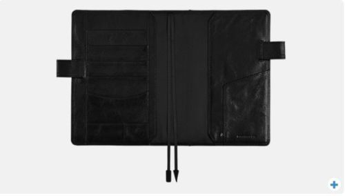 Hobonichi-Techo-TS-Black-2016-A5-Cousin-Cover-only-F-S-from-JAPAN