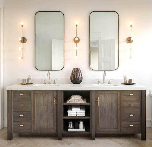 Diy Vanity Mirror Ideas To Make Your Room More Beautiful Tags Diy Vanity Mirror With Lights Ba Wood Bathroom Vanity Bathroom Sconces Master Bathroom Vanity