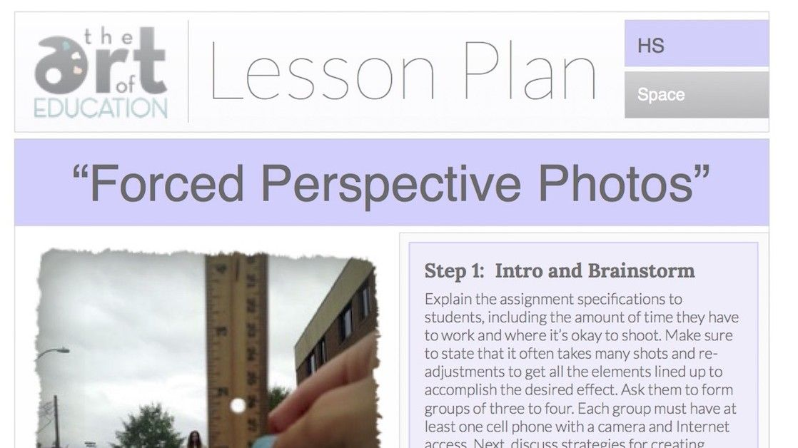 Forced Perspective Photos: Free Lesson Plan Download | Art ...