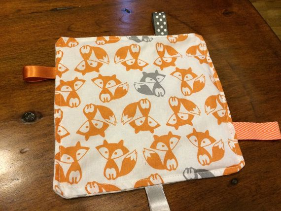 Fox Fabric Crinkle Toy/Tag Toy by MamaFoxShop on Etsy