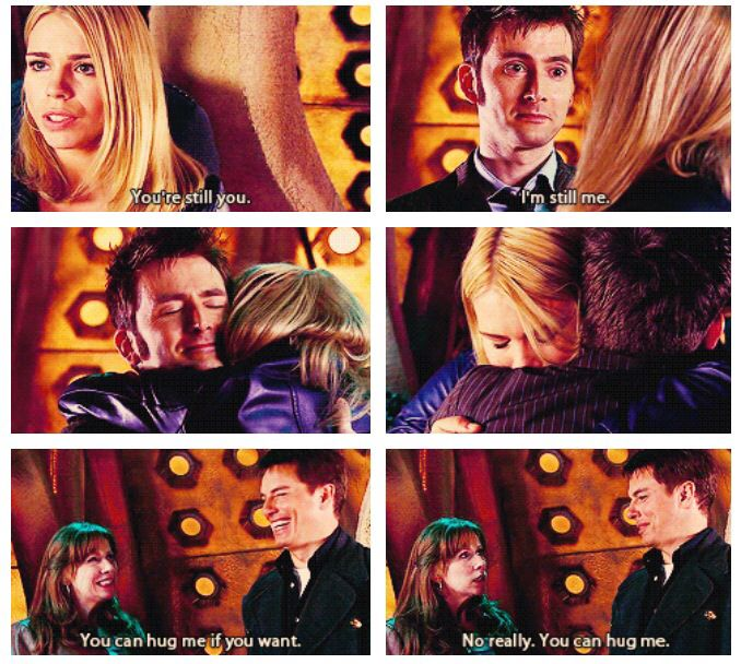 The Doctor after his first regeneration in Journey's End ...