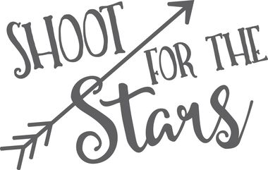 Shoot For The Stars Inspirational Wall Decal With Arrows
