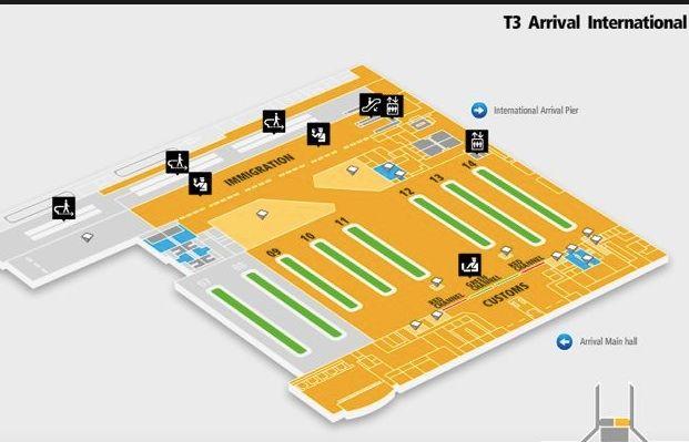 map of new delhi airport Arrival Map New Delhi International Delhi Airport Indira Gandhi map of new delhi airport