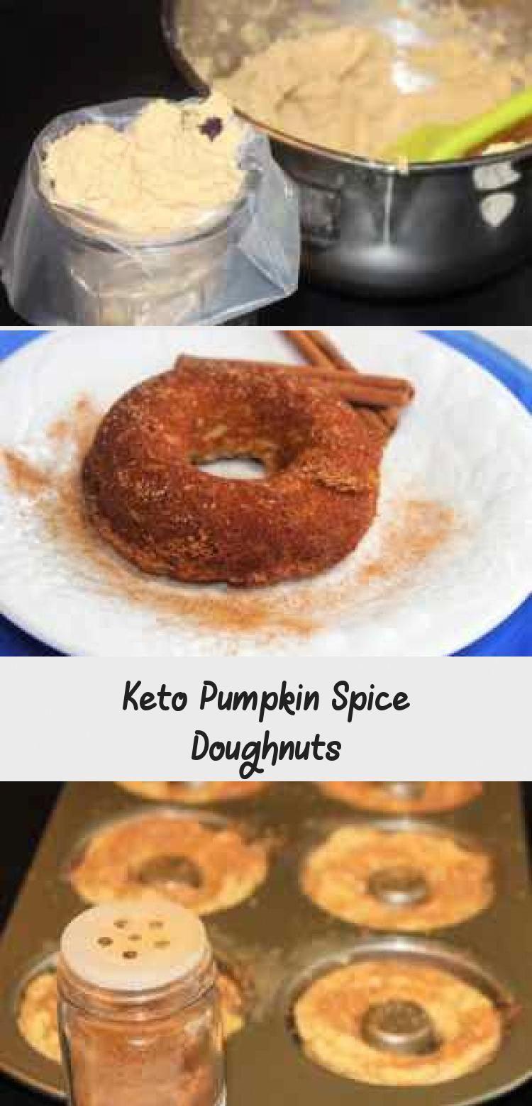 Keto pumpkin spice donuts are low carb sugar free gluten