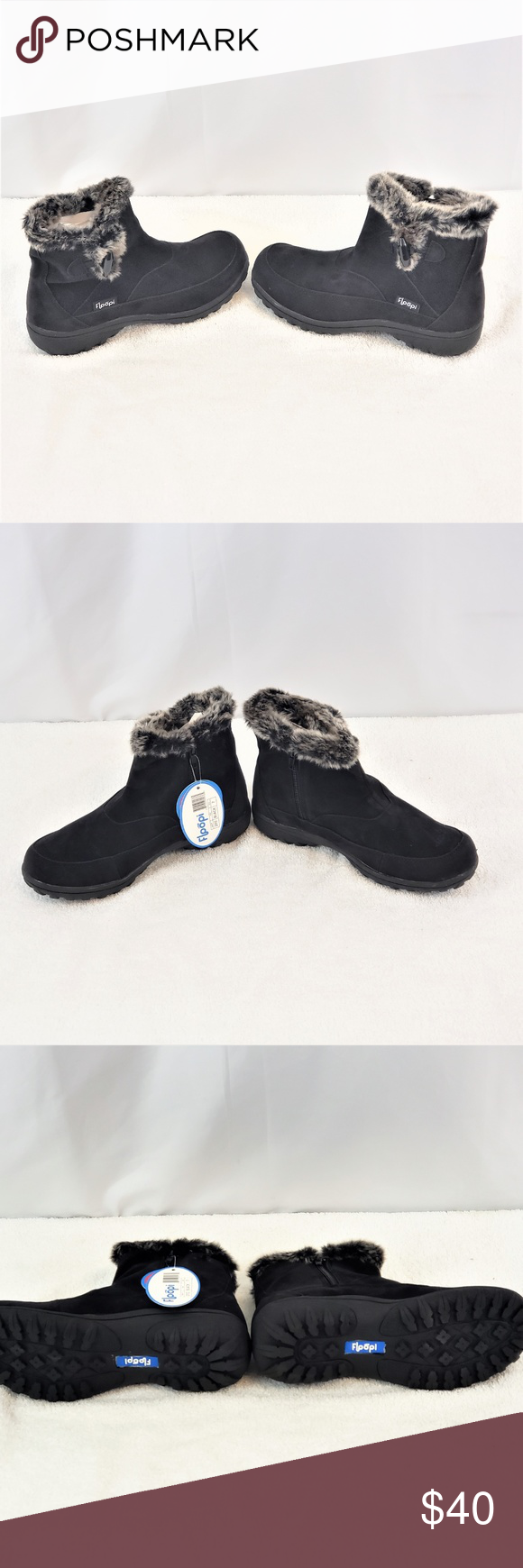 Fur Lined Zipper Ankle Boots