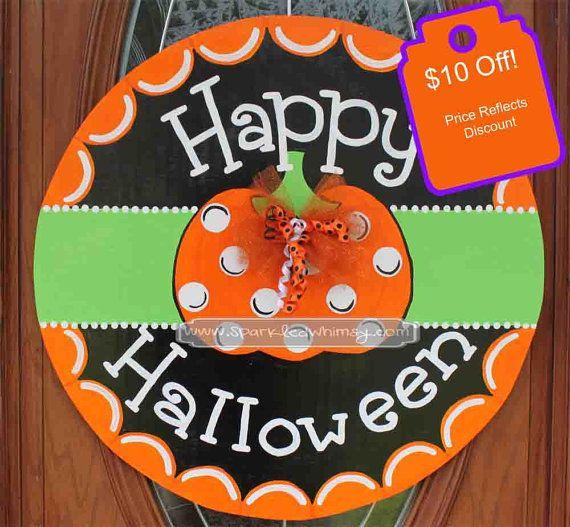 Ready To Ship: Ghost Door Hanger Halloween Door Decor Door