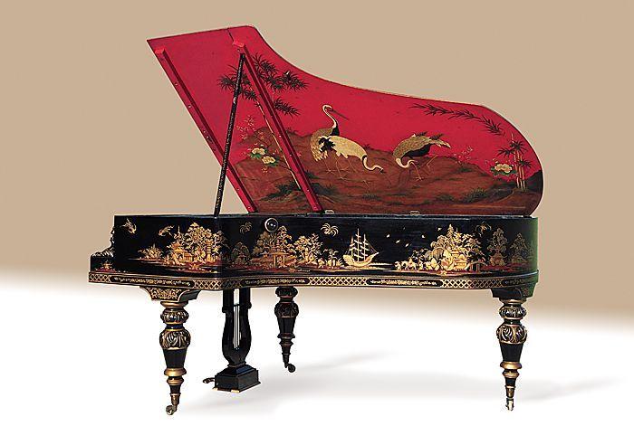 Grand piano by Pleyel, Paris, ca 1886.