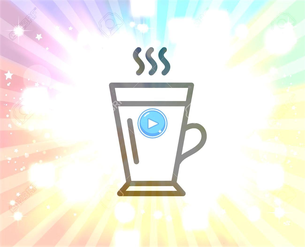 line icon Hot Coffee or Tea sign Fresh beverage symbol Quality design element Editable stroke Vector Latte line icon Hot Coffee or Tea sign Fresh beverage symbol Quality...