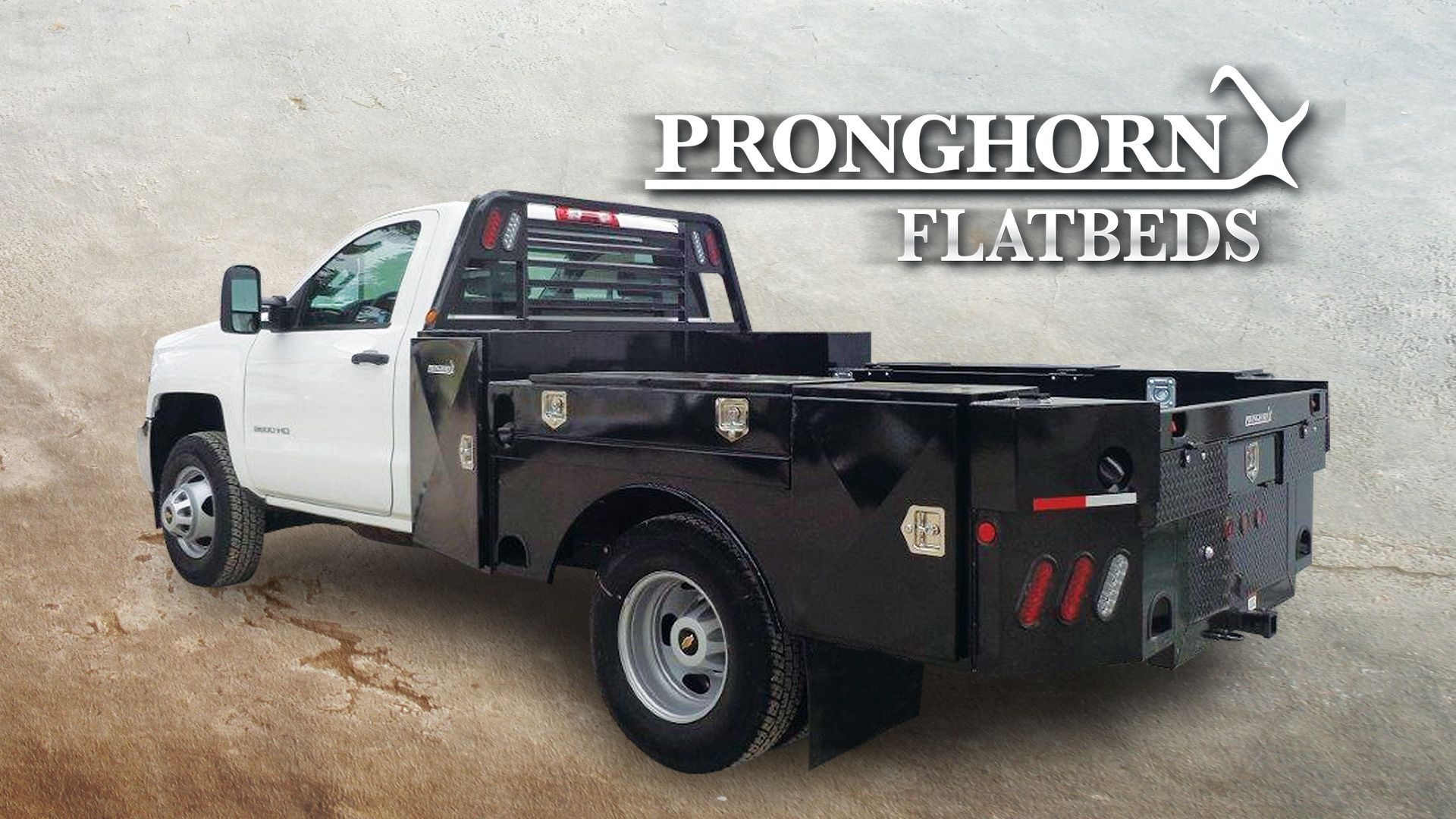 Mounted Truck With Backing Logo Trucks Work Truck Flatbed Truck Beds
