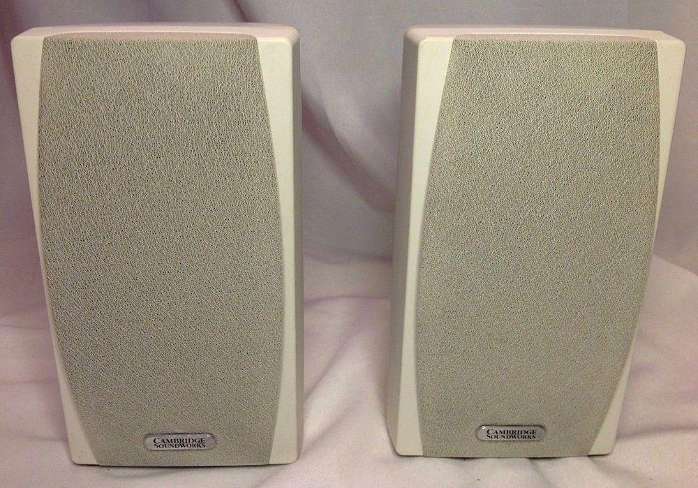 Cambridge Soundworks Pair MC200 Main Stereo Beige Bookshelf Speakers NICE CambridgeSoundWorks