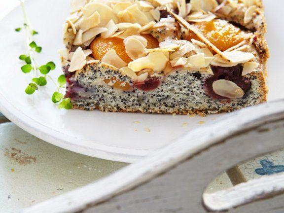 Mohn Aprikosen Kuchen Mit Mandeln Rezept Rezepte Lebensmittel Essen Und Rezeptideen