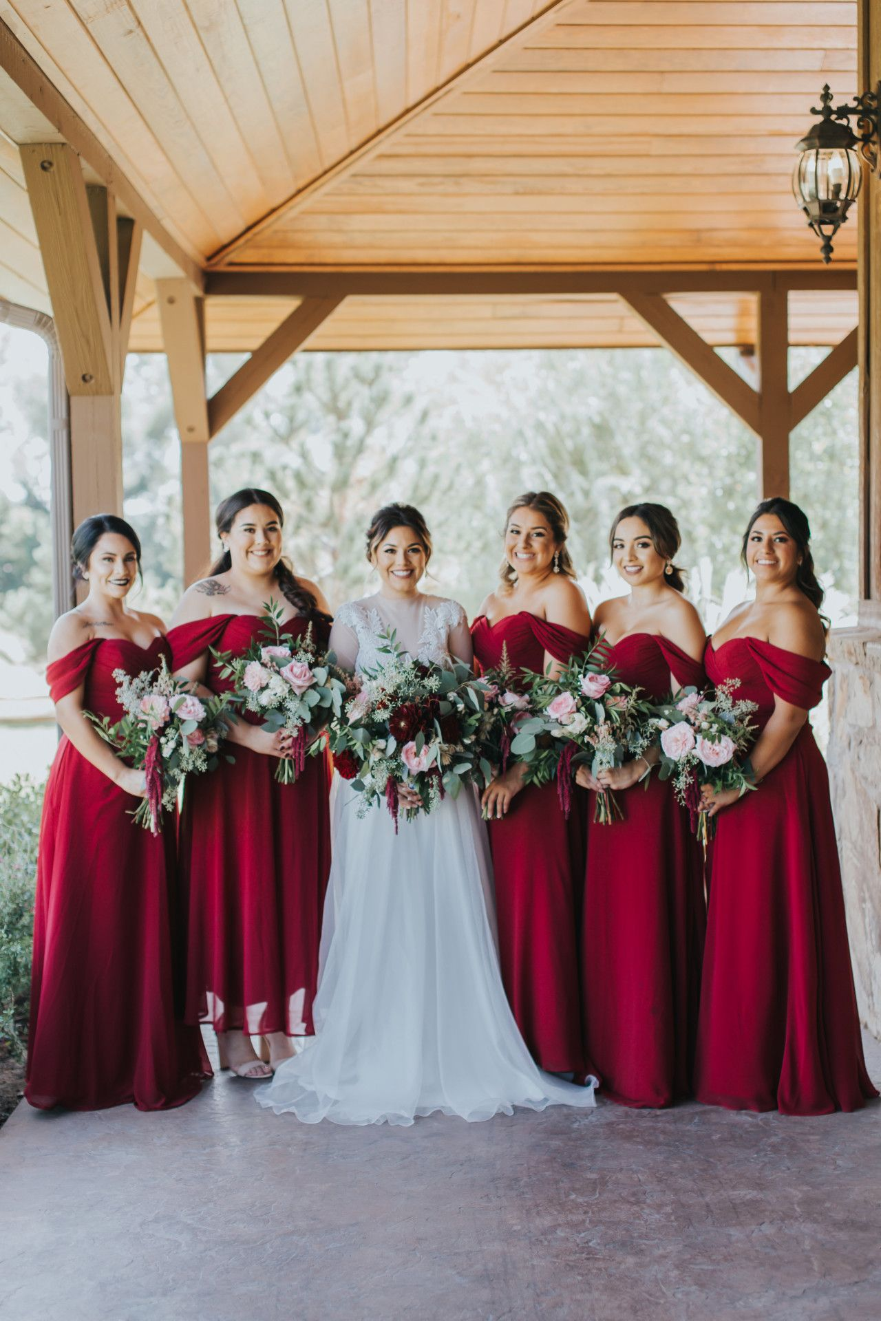 Deep Red Bridesmaid Dresses Fall Bridesmaid Dresses Autumn