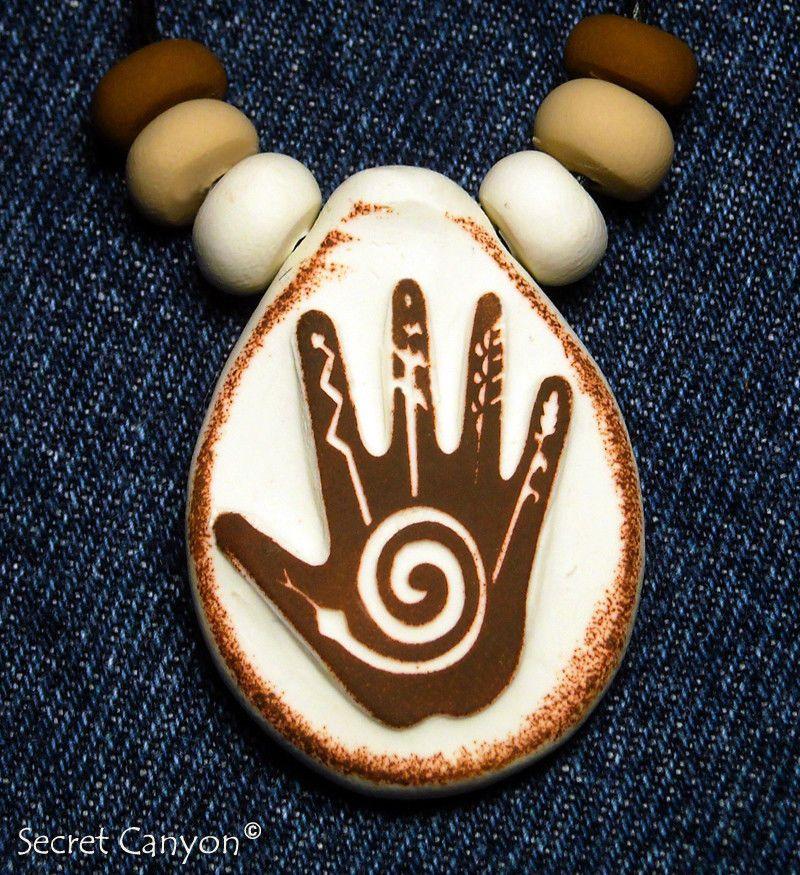Healing hand sacred handmade shaman hand symbol