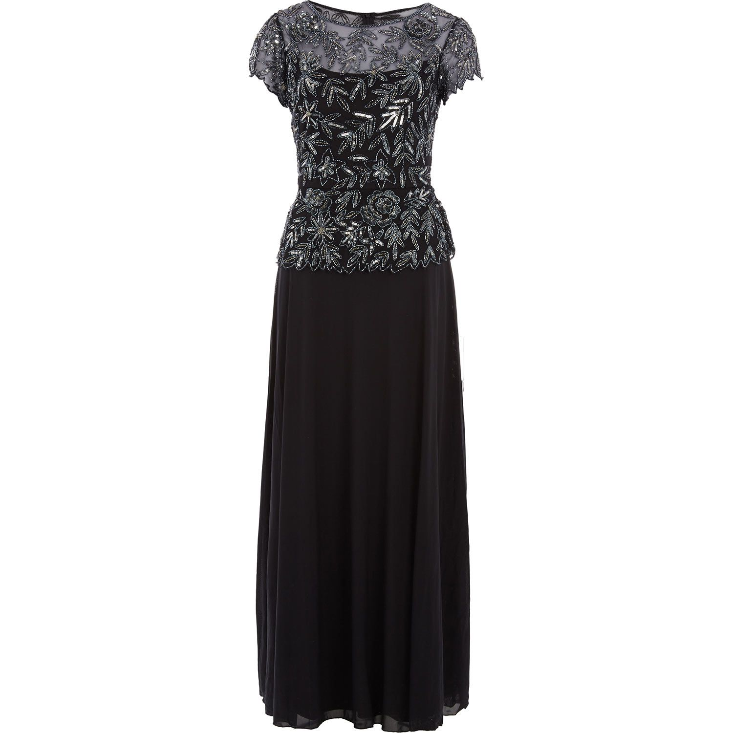Pisarro Nights Black Sequin Maxi Gown