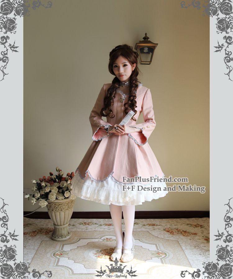35d54ff1c25d fanplusfriend - New Romantic, Classic Lolita Petal Bottom Thick Wool  Coat*2colors, $158.00