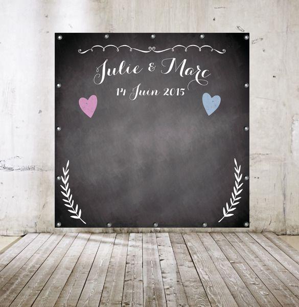 Préférence Arrière-Plan pour Photobooth thème MARIAGE ARDOISE : Décorations  EY77