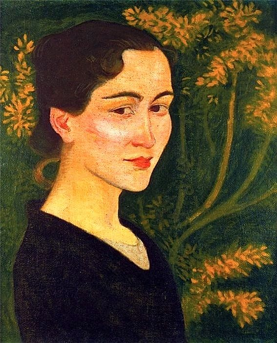 Portrait of Madame Maillol - 1895 by Aristide Maillol (French, 1861-1944)