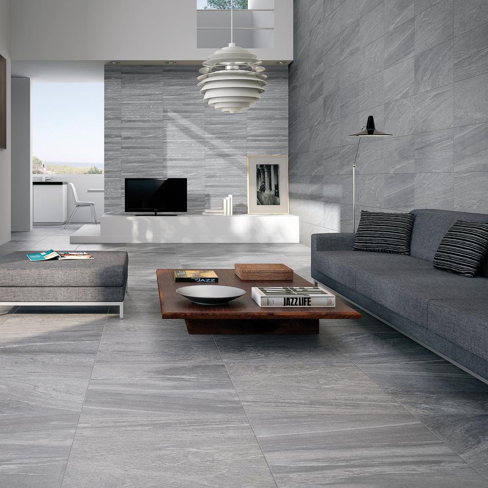Gayafores Sahara Grey 13 In X 25 In Glazed Porcelain Decorative Wall Tile 10 76 Sq Ft Case 201 Room Wall Tiles Living Room Tiles Living Room Wall Tiles