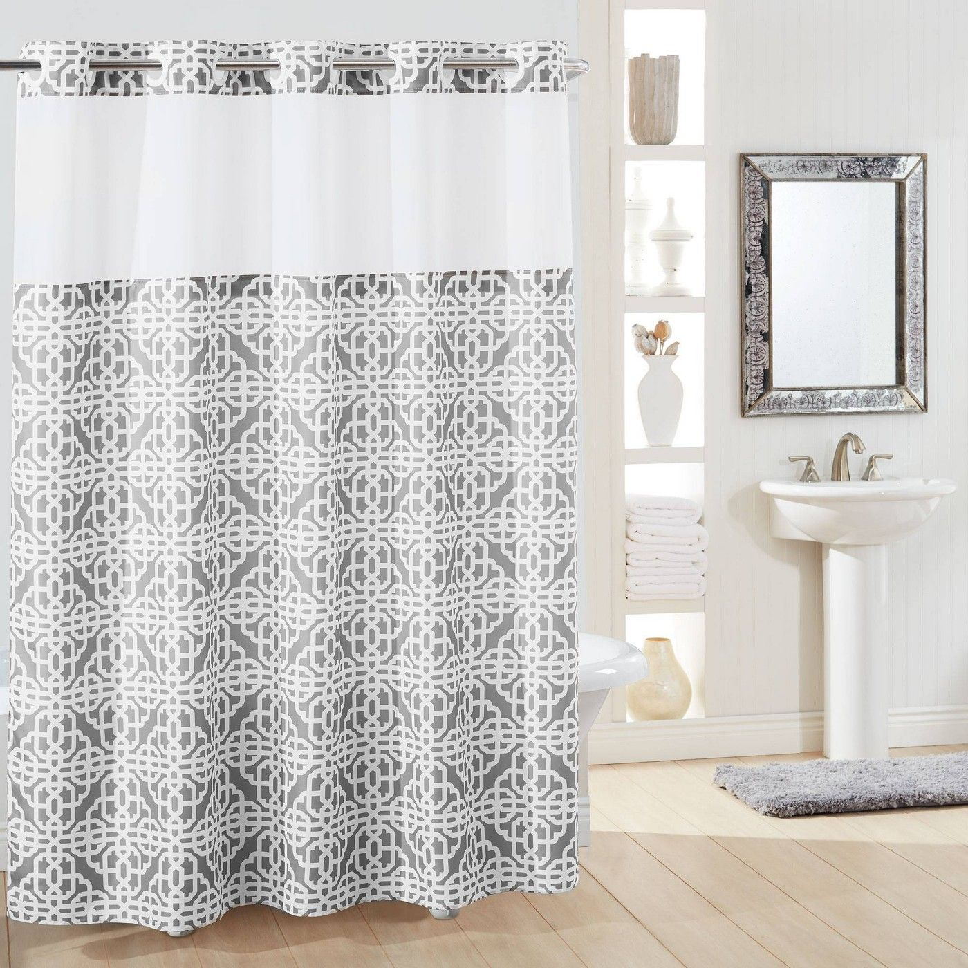 Branca Trellis Shower Curtain With Liner Hookless Target
