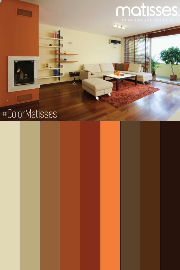 Acentos naranjas combinados con tonos terrosos los colores del oto o paleta de colores - Pintar exterior casa ...