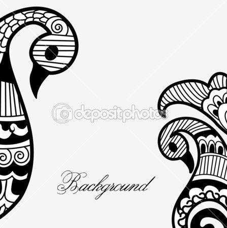Henna Art Vector Background