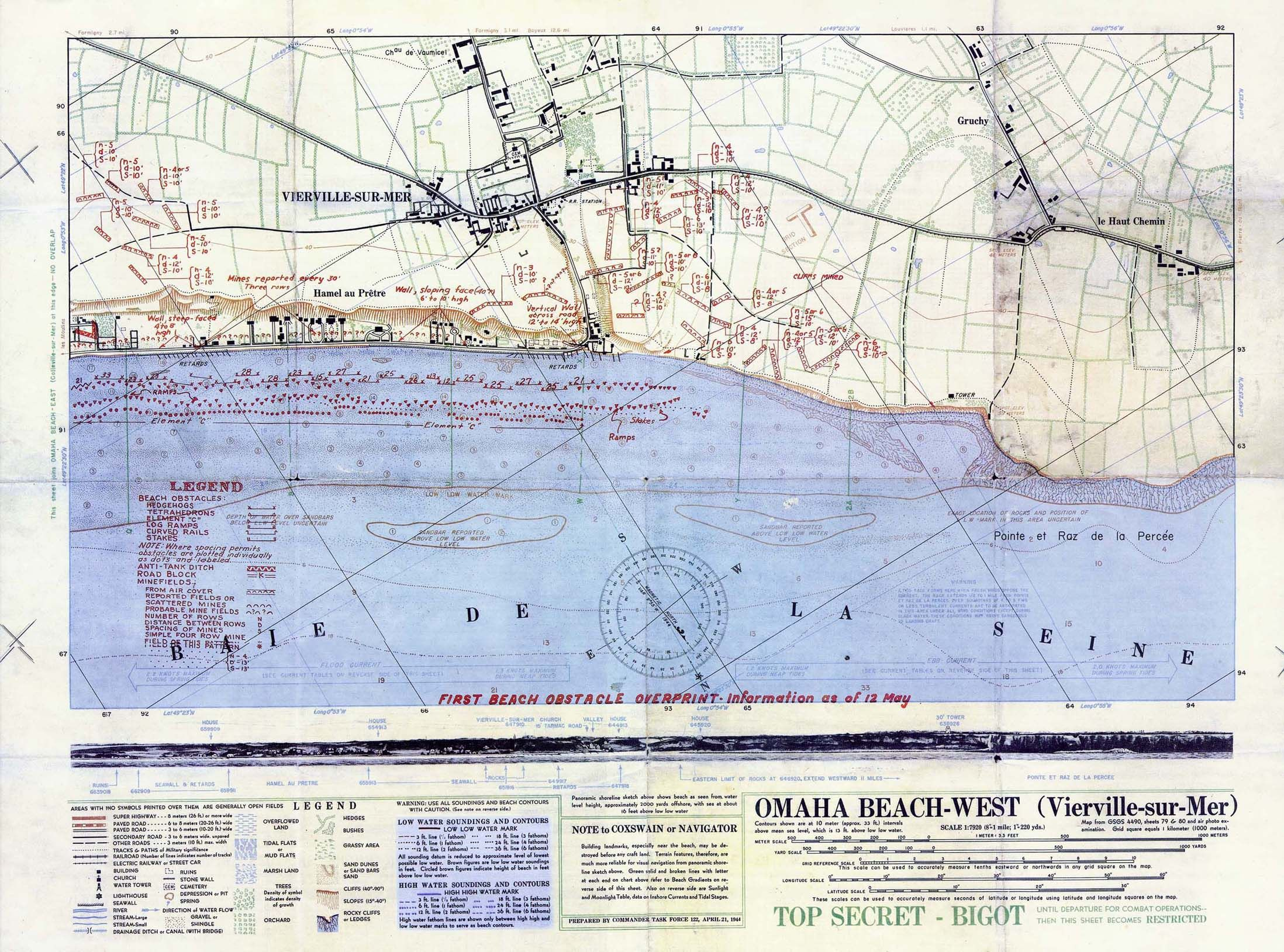 Omaha Beach West Map D Day