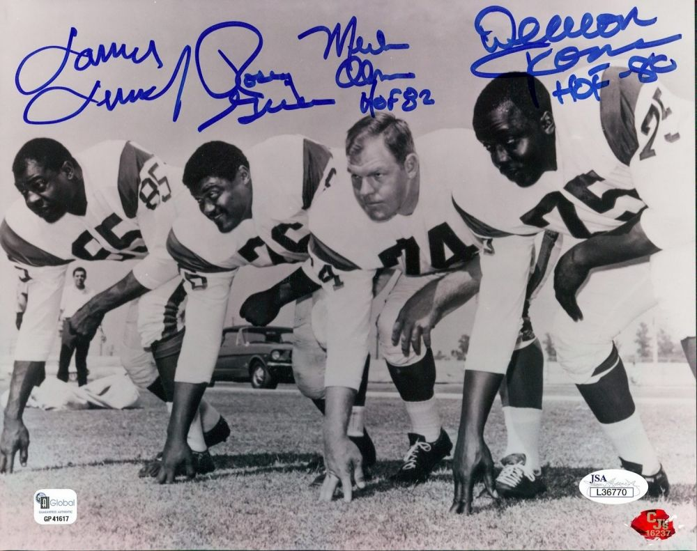 7006da21b Fearsome Foursome Signed 8x10 Photo with Lamar Lundy