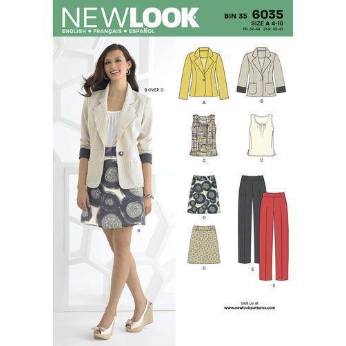 New Look Pattern 6035 Misses\' Separates   Sew Cute   Pinterest ...