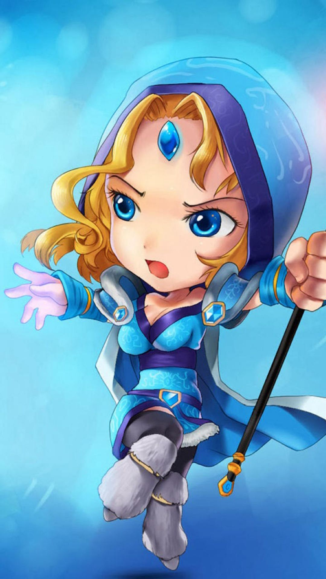 Dota 2 Crystal Maiden Daily Android Wallpapers Pinterest Dota