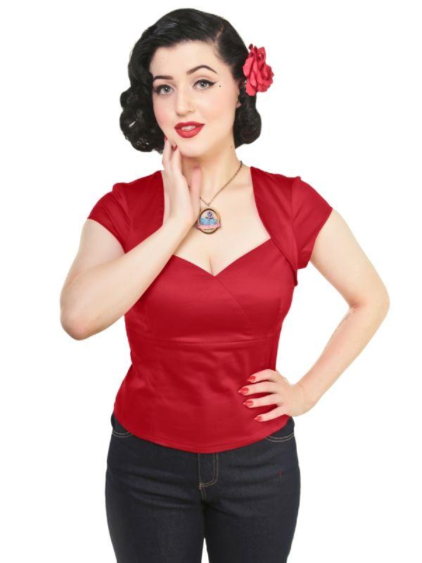 *SALE* Collectif Regina Top Red