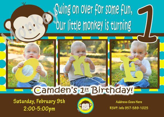 Mod monkey invitation mod monkey invite photo 1st birthday party mod monkey invitation mod monkey invite photo 1st birthday party boy pictures invite 1 stopboris Image collections