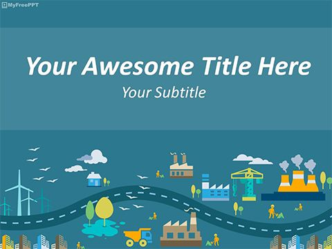 Industrial City Powerpoint Template Powerpoint Template Free Powerpoint Presentation Design Powerpoint Templates
