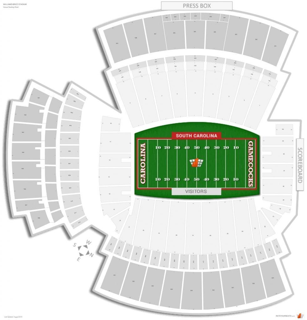 The Elegant Williams Brice Stadium Seating Chart Seating Charts Chart Soldier Field Seating