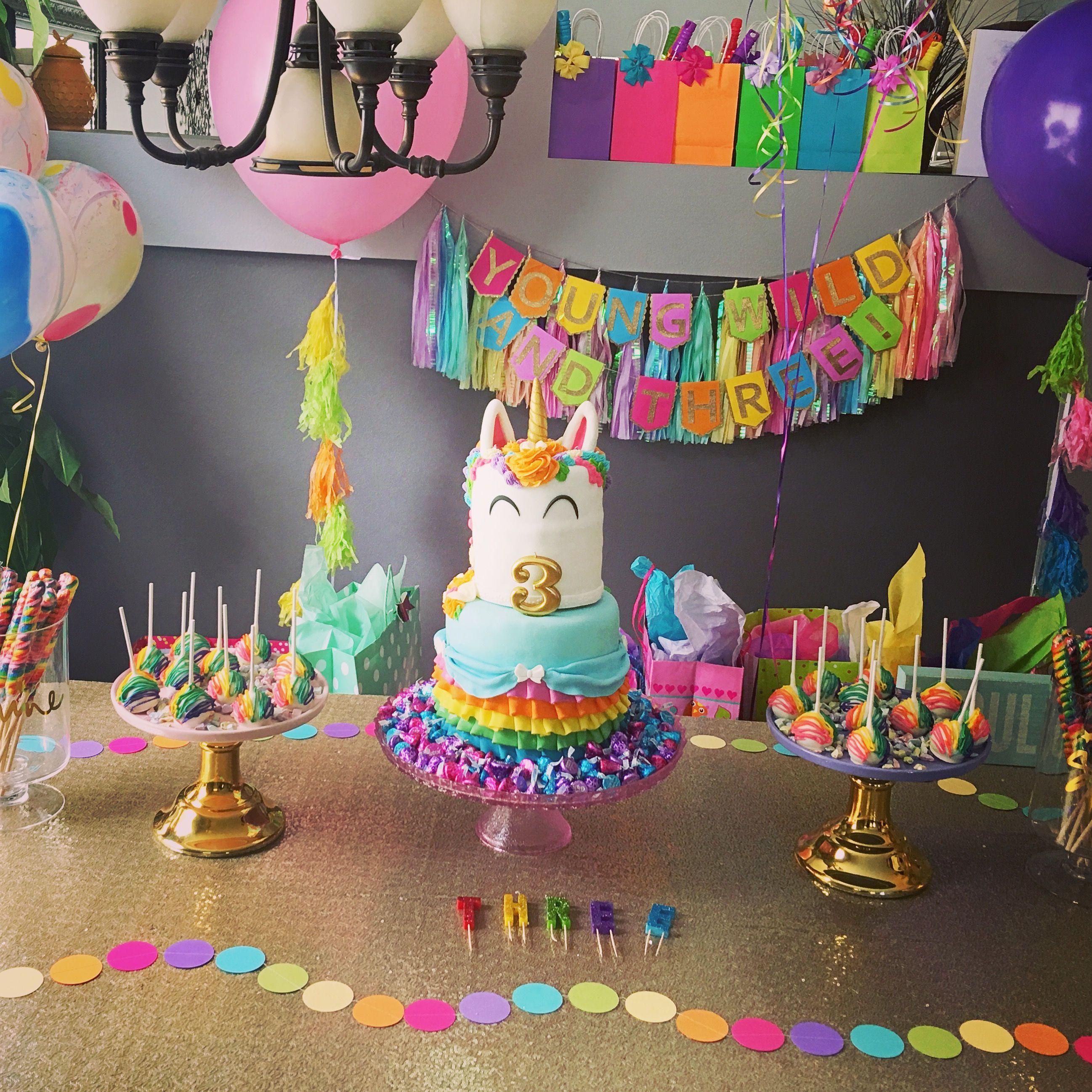 Rainbow Party ideas para fiestas infantiles