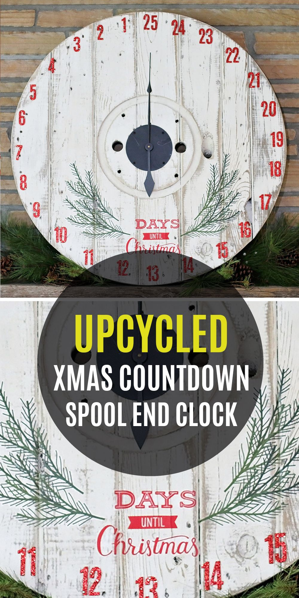 Countdown To Christmas Clock.Diy Upcycled Countdown To Christmas Spool Clock Diy