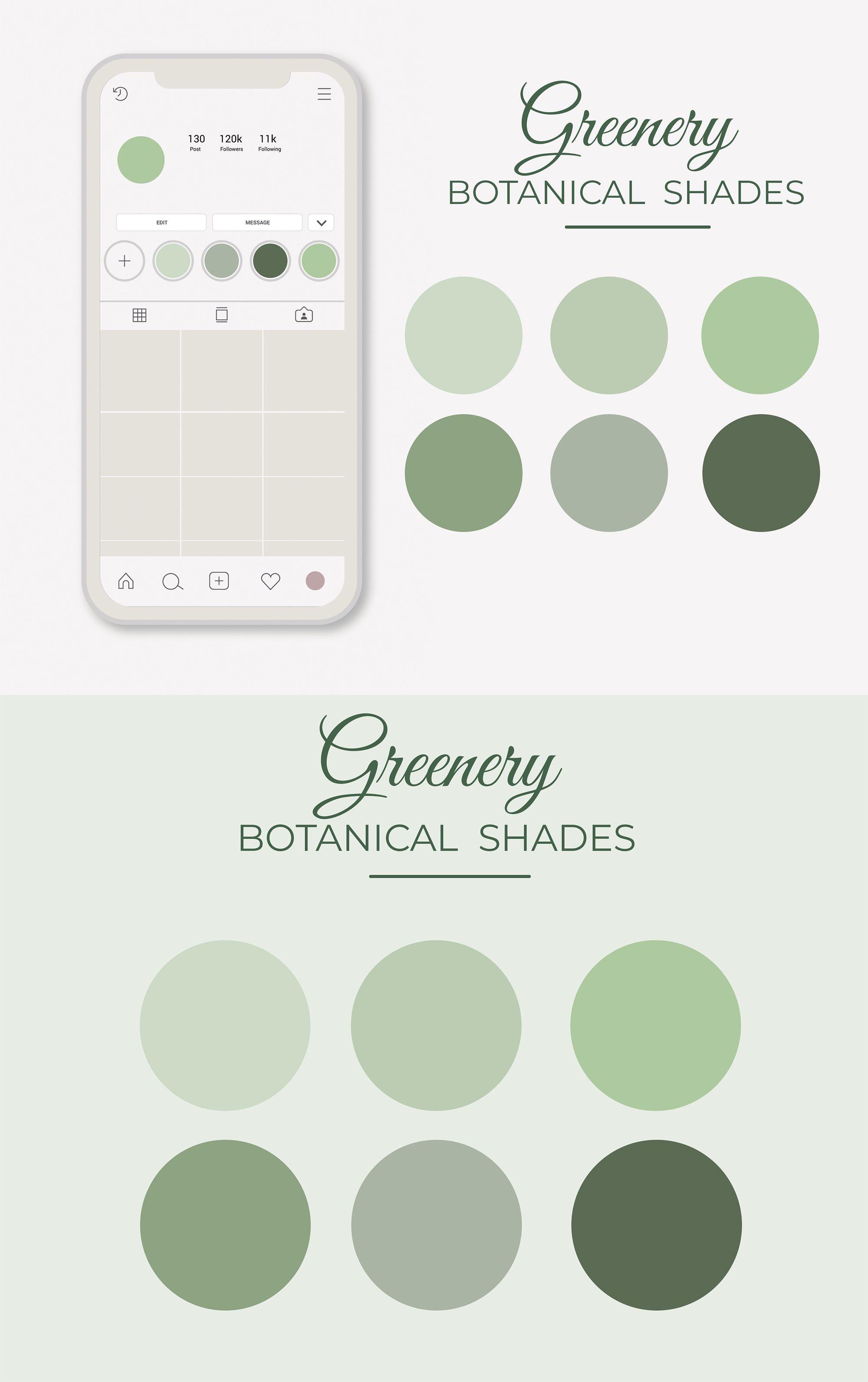Green Instagram Highlight Covers Earthy Instagram