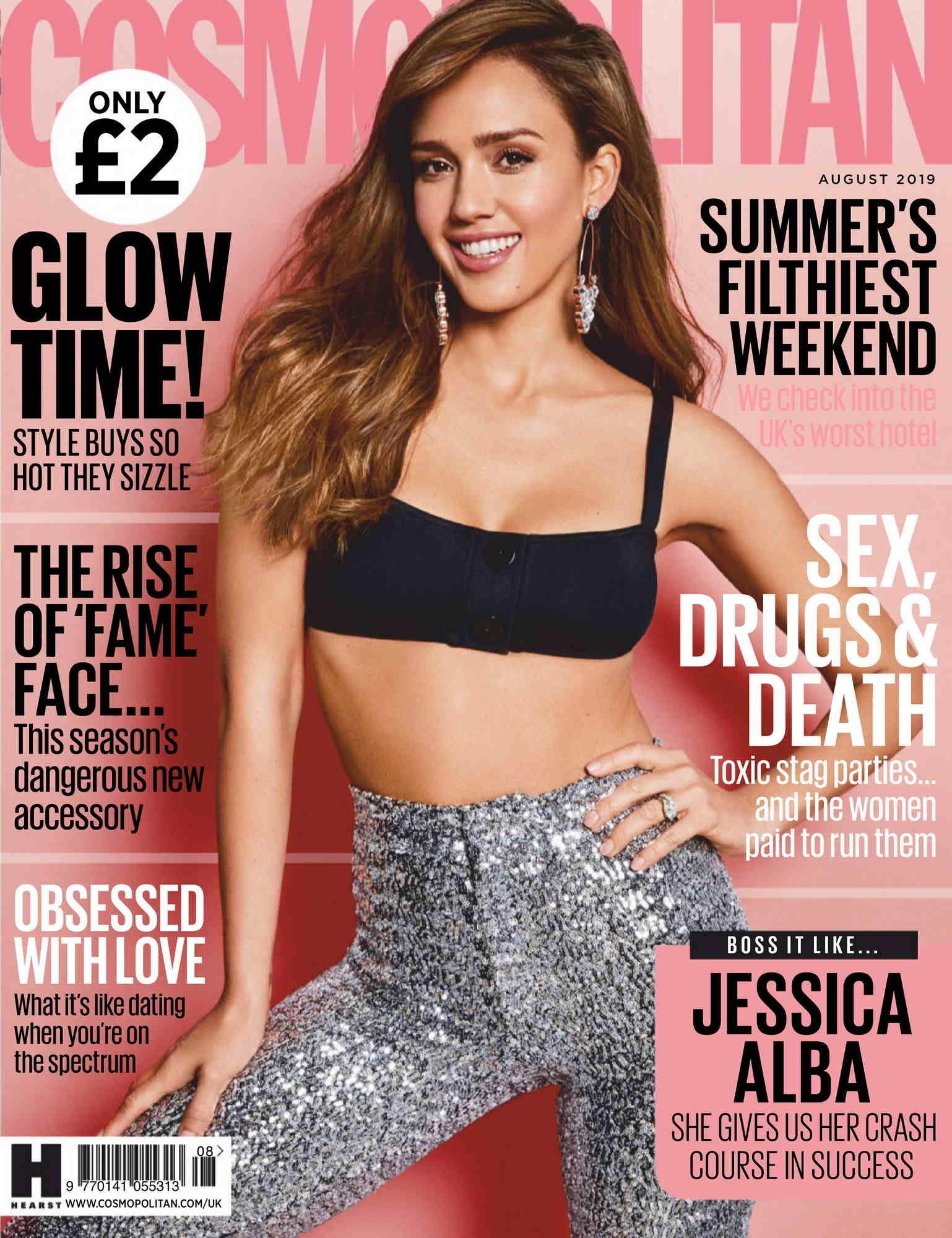 JESSICA ALBA in Cosmopolitan Magazine, UK April 2016 Issue