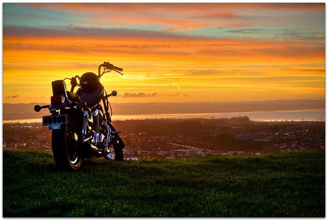 Take A Ride Into The Rainbow Sunset Biker Quotes Riding Quotes