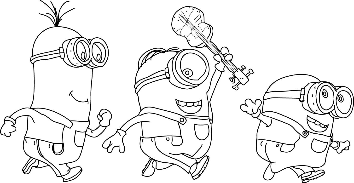 nice Minions Coloring Pages | wecoloringpage | Pinterest